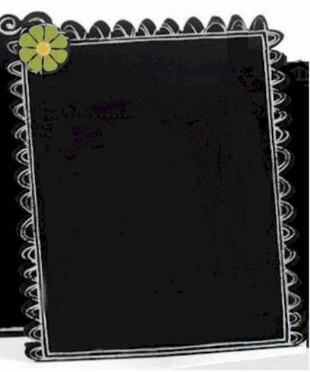Chalkboard with Green Daisy
