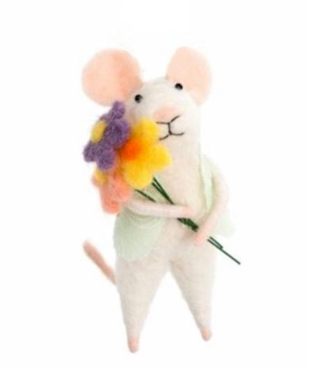 Mouse with Bouquet LARGE