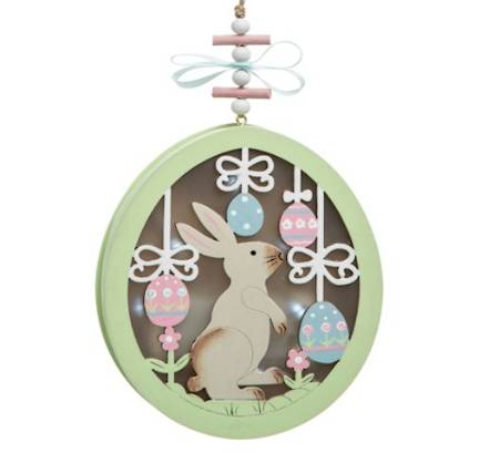 Lighted Bunny Easter Ornament LARGE