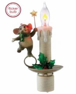 Flicker Candle Lamp with Mouse Night Light