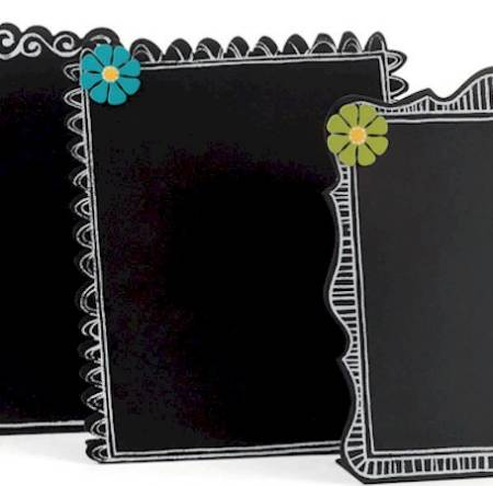 Chalkboard with Blue Daisy