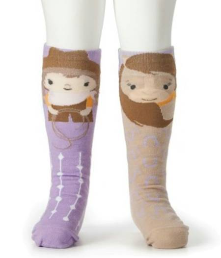 Cowgirl and Horse Knee Socks LARGE