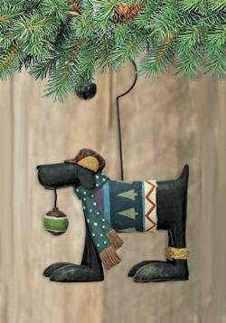 Black Dog Ornament