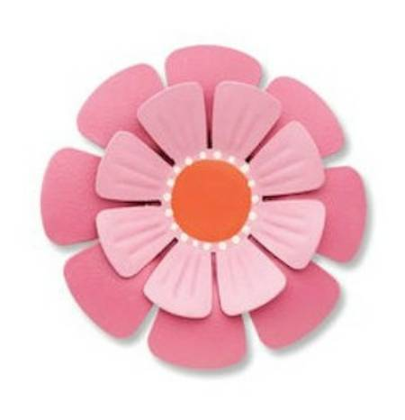 Pink Dimensional Flower Magnet MAIN