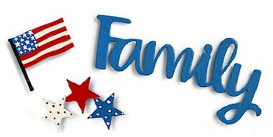 Family Patriotic Magnets LARGE