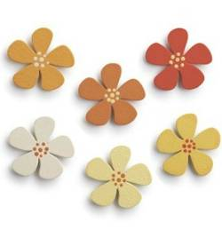 Flower Ombre Magnets THUMBNAIL