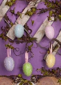 Pastel Egg Ornament Set