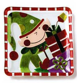 Elf with Presents Plate