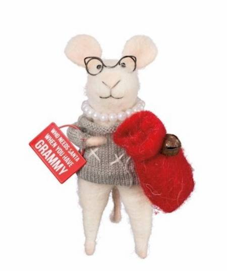 Grandma Mouse with Gift Sack LARGE