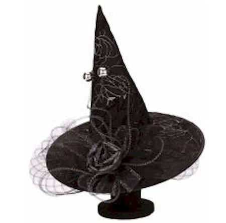 Witch Hat with Black Rose