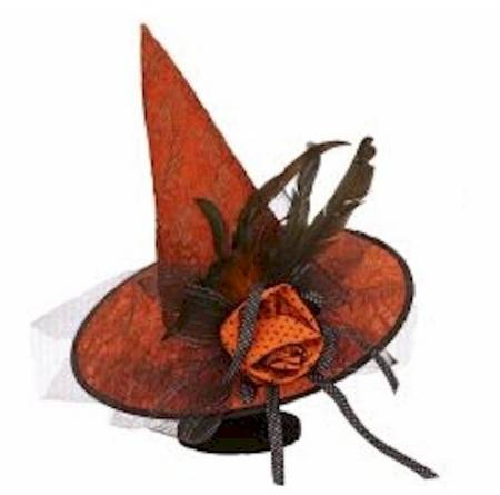 Witch Hat with Orange Rose