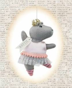 Hattie the Hippo Ballerina Ornament THUMBNAIL