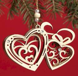 Hearts Ornament