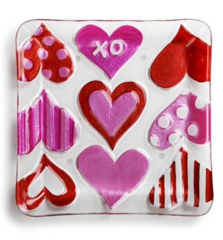 Hearts Square Plate