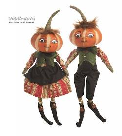 Kermit and Kimberly Harvest Pumpkin Head Kids
