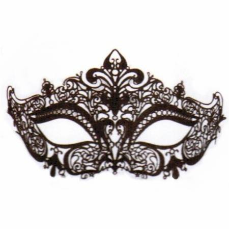 Black Glittered Lace Mask