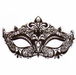 Black Glittered Lace Mask THUMBNAIL