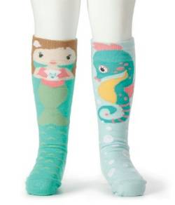 Mermaid and Seahorse Knee Socks