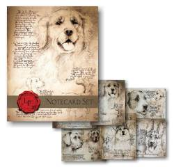 Leonardo's Dog Notecard Set THUMBNAIL