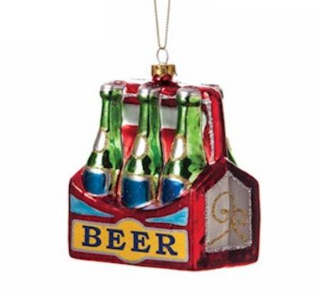 Beer Six Pack Glass Ornament
