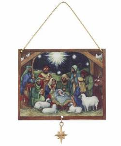 Nativity Scene Ornament Set
