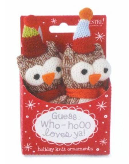 Knit Owl Snowbuddies