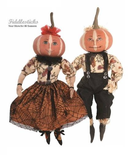 Penelope and Parnell Halloween Pumpkin Head Couple