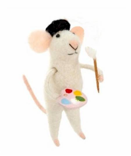 Artist Mouse with pallette Figure LARGE