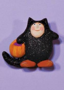 Black Cat Boy Pin