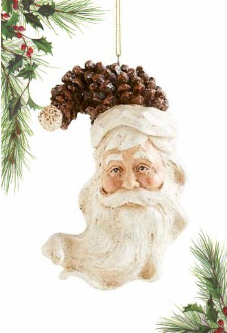 Pinecone Curved Santa