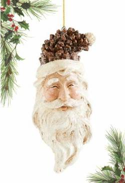 Pinecone Smiling Santa