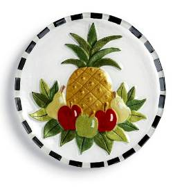 Welcome Pineapple Round Plate