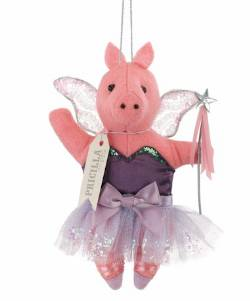 Priscilla the Pig Sugarplum Fairy Ornament THUMBNAIL
