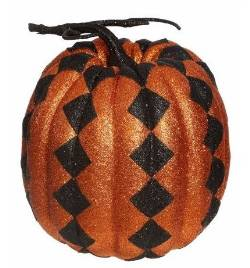 Orange Harlequin Fashion Pumpkin
