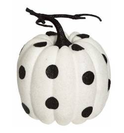 White Polkadot Fashion Pumpkin
