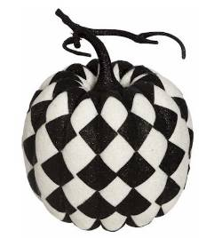 White Harlequin Fashion Pumpkin