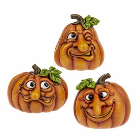 Funny Face Pumpkin Figures LARGE