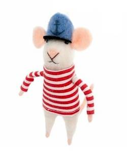 Mouse with sailor Hat Ornament THUMBNAIL