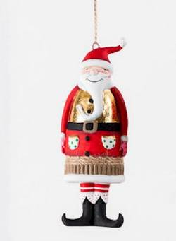 Santa with Gold Vest  Ornament THUMBNAIL