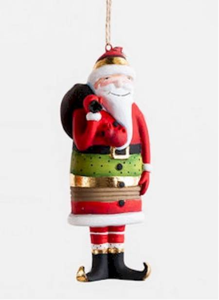 Santa with Toy Bag Ornament MAIN