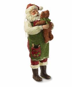 Santa with Teddy Bear Ornament THUMBNAIL