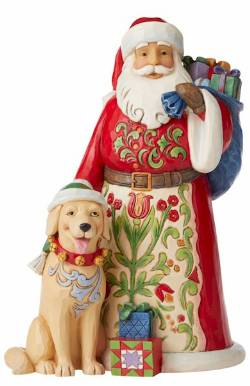 Santa with Dog THUMBNAIL
