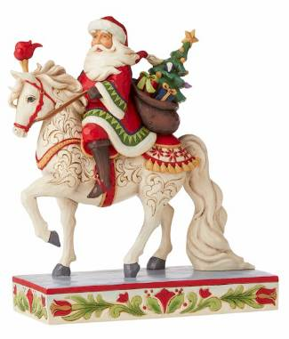 Santa Riding White Horse THUMBNAIL