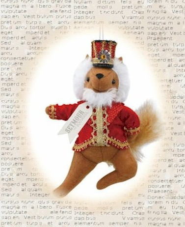Seymour the Squirrel Nutcracker Ornament LARGE