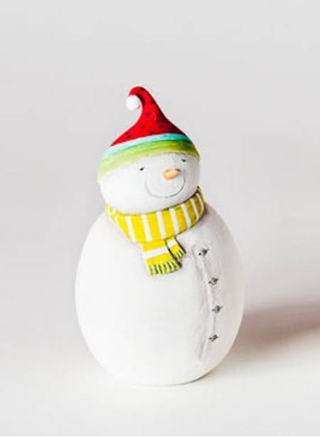 Snowman with Red Hat Ornament