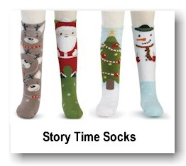Story Time Socks - Christmas