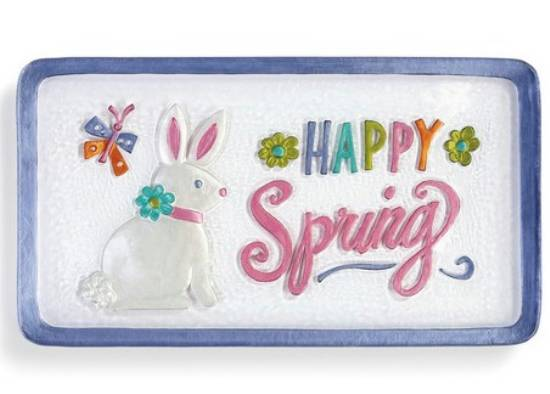 Happy Spring Bunny Platter LARGE