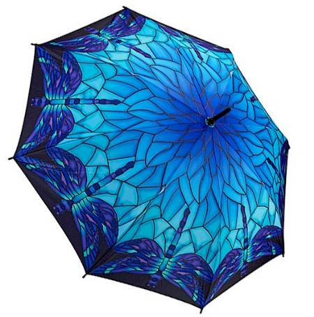 Stained Glass Dragonfly Umbrella