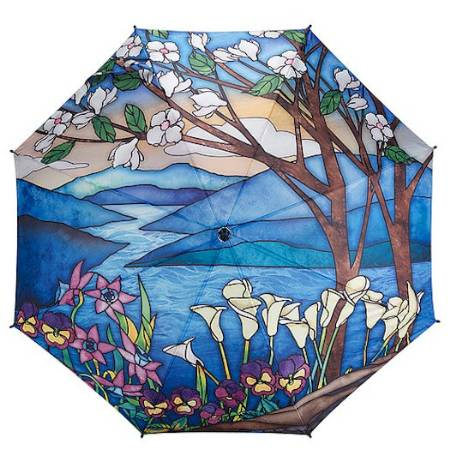 Stained Glass Landscape Umbrella MAIN