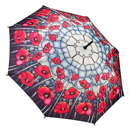 Stained Glass Poppies Umbrella MAIN